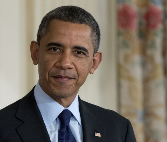 **FILE** President Obama pauses in the State Dining Room of the White House on Jan. 24, 2013, as he announces that he will nominate Mary Joe White to lead the Security and Exchange Commission and re-nominate Richard Cordray to lead the Consumer Financial Protection Bureau, a role that he has held for the last year under a recess appointment. (Associated Press)