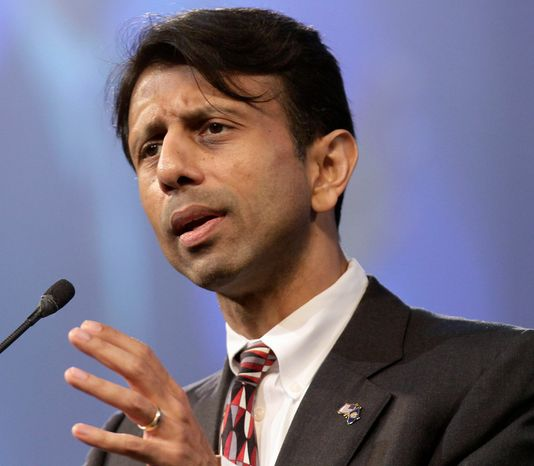 """""""It's time for a new Republican Party that talks like adults,"""" Louisiana Gov. Bobby Jindal says. """"We had a number of Republicans damage the brand this year with offensive and bizarre comments. I'm here to say we've had enough of that."""" (Associated Press)"""