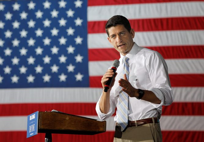 """In the president's first term, we argued against big government in theory. In his second, we will argue against it in practice,"" said Rep. Paul Ryan, Wisconsin Republican, signaling the GOP is turning its focus. (Associated Presss)"