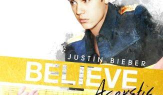 "Cover art for Justin Bieber's ""Believe Acoustic"""
