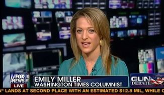 "Emily Miller on Fox News' ""Fox and Friends"". January, 28, 2013."