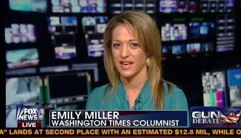 """Emily Miller on Fox News' """"Fox and Friends"""". January, 28, 2013."""