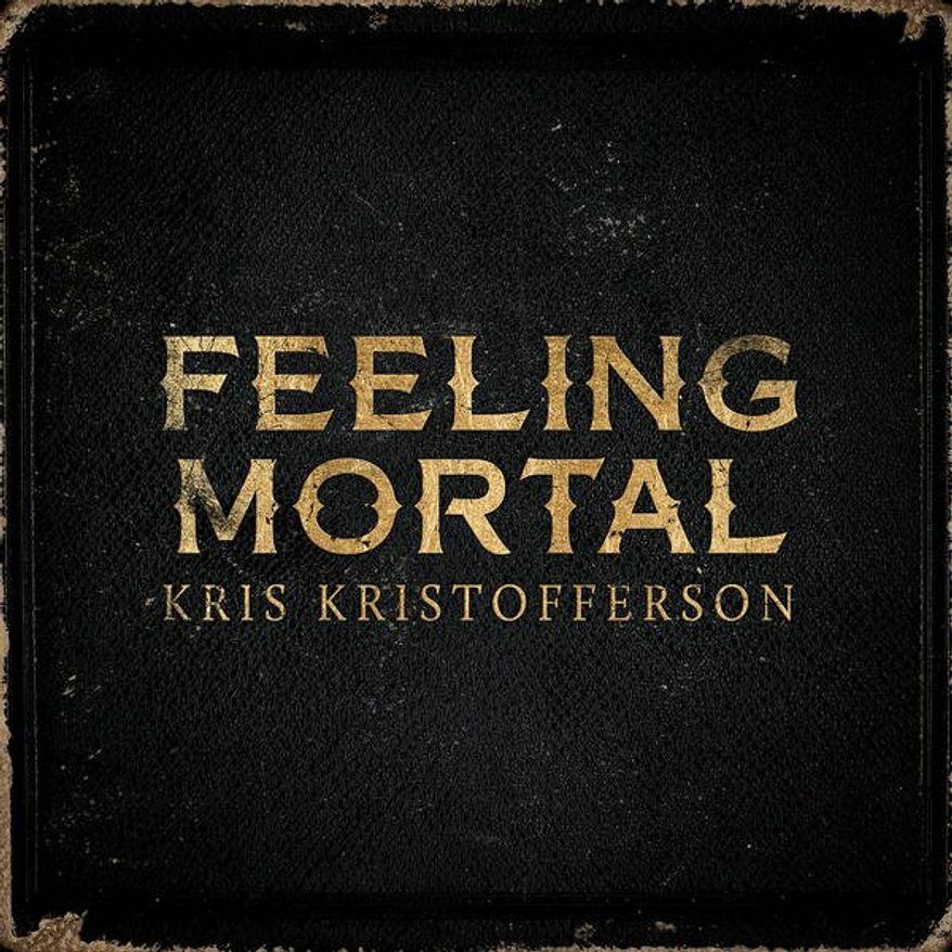 """Cover art for Kris Kristofferson's """"Feeling Mortal"""""""