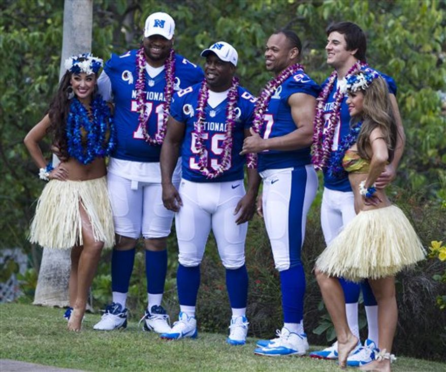 Redskins Pro Bowlers (from L to R) Trent Williams, London Fletcher, Lorenzo Alexander, Ryan Kerrigan. Associated Press