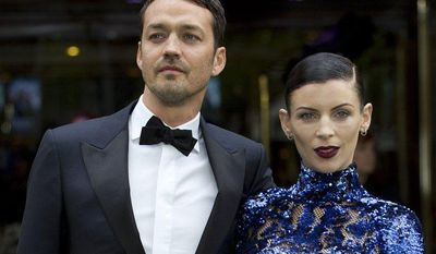 "** FILE ** Rupert Sanders, director of ""Snow White and the Huntsman,"" and actress-model Liberty Ross, his wife, attend the world premiere of the film at a cinema in central London on Monday, May 14, 2012. (AP Photo/Alastair Grant, File)"