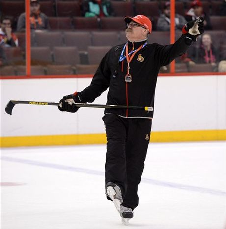 Adam Oates was a teammate of Paul MacLean's in Detroit and St. Louis and was coached by him when MacLean was an assistant in Anaheim.