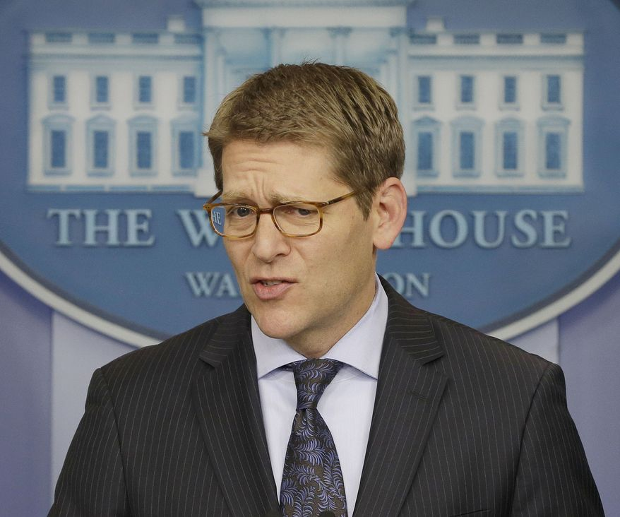 White House spokesman Jay Carney speaks during his daily news briefing at the White House on Jan., 30, 2013. (Associated Press)