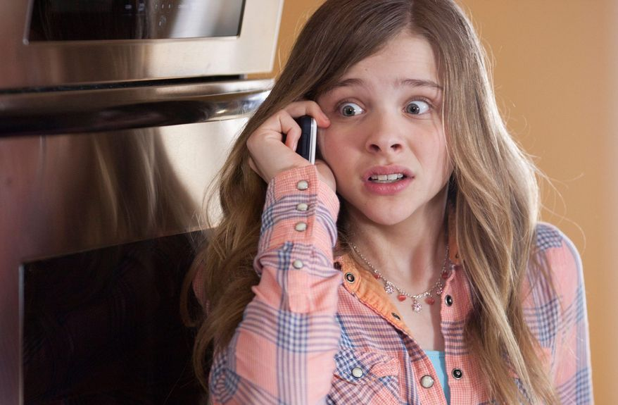 "This image released by Relativity Media shows Chloe Grace Moretz in a scene from ""Movie 43."" (AP Photo/Relativity Media, Michele Short)"