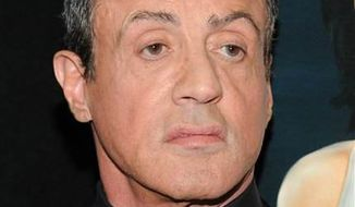 "Actor Sylvester Stallone attends the ""Bullet To The Head"" premiere at AMC Lincoln Square on Tuesday, Jan. 29, 2013 in New York. (Associated Press)"