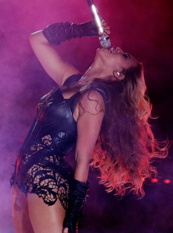 Beyonce's performance at halftime of the Super Bowl was not to blame for the power outage that delayed the game for half an hour Sunday. (Associated Press)