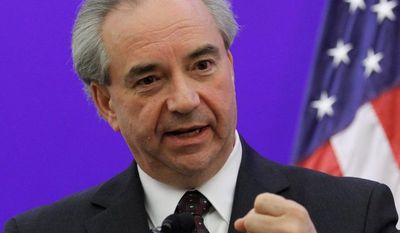 Virginia Lt. Gov. Bill Bolling stunned fellow Republicans on Monday, casting the tiebreaking vote in the state Senate for the Democrats' position, postponing voter-ID changes till 2014. (Associated Press)
