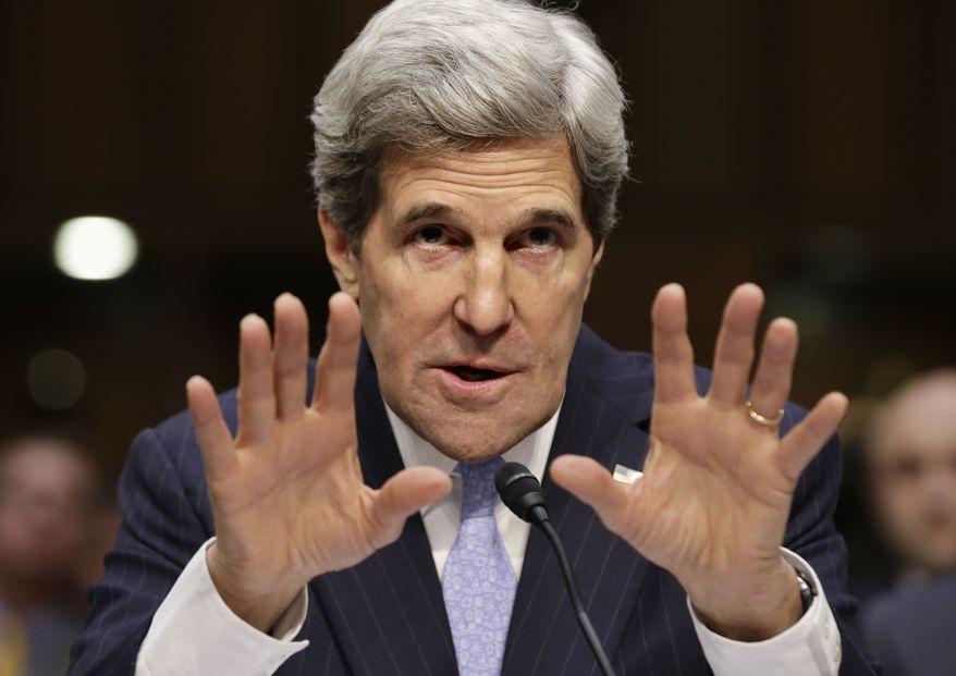**FILE** Secretary of State John Kerry (Associated Press)