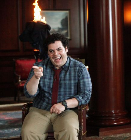 "Josh Gad plays Skip, the bumbling son of the U.S. president, in ""1600 Penn."" The comedy airs 9:30 p.m. Thursday on NBC. Bill Pullman is the president. (NBC via Associated Press)"