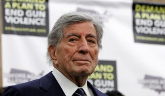Singer Tony Bennett, at a star-studded event on Capitol Hill on Wednesday, called on Congress to act on President Obama's legislation to curb gun violence. (Associated Press)