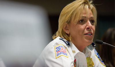 D.C. police Chief Cathy L. Lanier says her department has made headway in identifying records that correspond to sexual assaults questioned by Human Rights Watch in its blistering report that accused the department of failing to investigate the cases. (Andrew Harnik/The Washington Times)