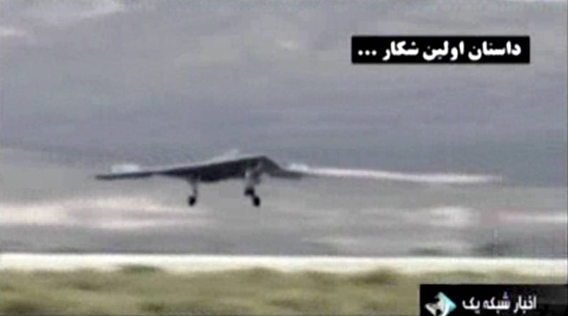 This undated image taken from video broadcast on Iranian state television purports to show a U.S. drone landing in Kandahar, Afghanistan. Iran's state TV has broadcast footage on Thursday, Feb. 7, 2013, allegedly extracted from the advanced CIA spy drone captured in 2011, the latest in a flurry of moves from Iranian authorities meant to underline the nation's purported military and technological advances. (AP Photo/Iranian state TV via AP video)
