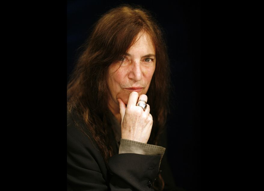 **FILE** Rock musician and writer Patti Smith is seen here in New York on May 29, 2012. (Associated Press)