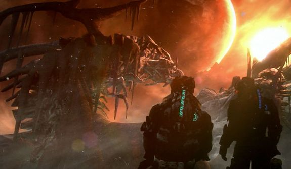 The video game Dead Space 3 features a visit to an ice planet and co-operative action.