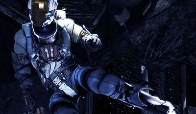 Isaac Clarke hangs out in outer space in the video game Dead Space 3.