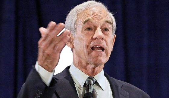 Former Texas Rep. Ron Paul (Associated Press) **FILE**