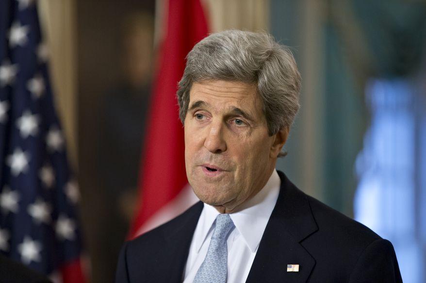 **FILE** Secretary of State John F. Kerry (Associated Press)