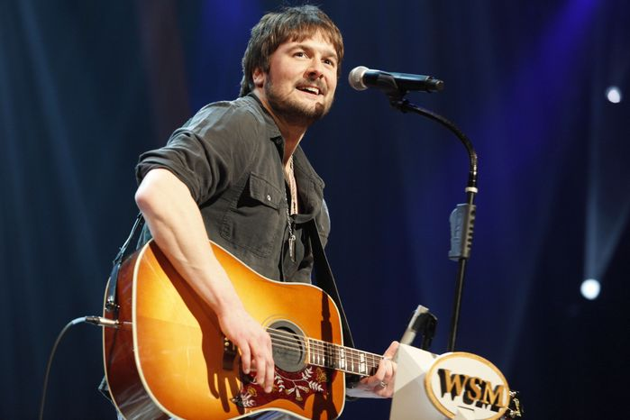 Country singer Eric Church performs at the Grand Ole Opry in Nashville, Tenn., on March 18, 2011. Mr. Church is the top nominee, with seven nominations, for the Academy of Country Music Awards in 2013. (AP Photo/Ed Rode)