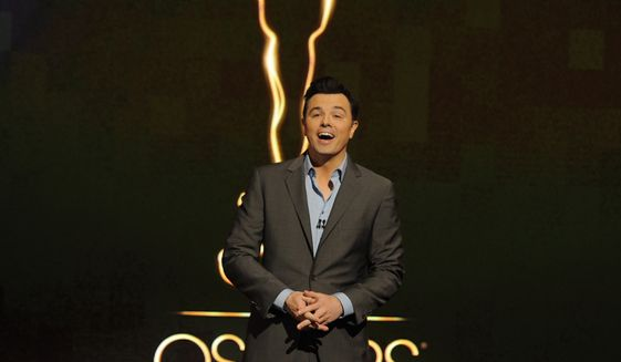 Seth MacFarlane announces the nominations for the 85th Academy Awards in Beverly Hills, Calif., on Thursday, Jan. 10, 2013. Mr. MacFarlane will host the Feb. 24 awards ceremony. (Chris Pizzello/Invision/AP Photo) ** FILE **