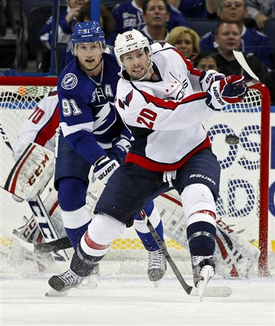 Troy Brouwer scored his team-leading seventh goal of the season in the Capitals' 4-3 victory at the Lightning on Thursday night. (Associated Press)