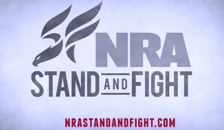 Screen grab from the National Rifle Association's ad protesting a proposed ban on high-capacity ammunition magazines