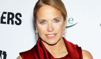 """TV personality Katie Couric attends the premiere of """"Makers: Women Who Make America"""" at Alice Tully Hall at Lincoln Center in New York on Wednesday, Feb. 6, 2013. (AP Photo/Starpix, Marion Curtis)"""