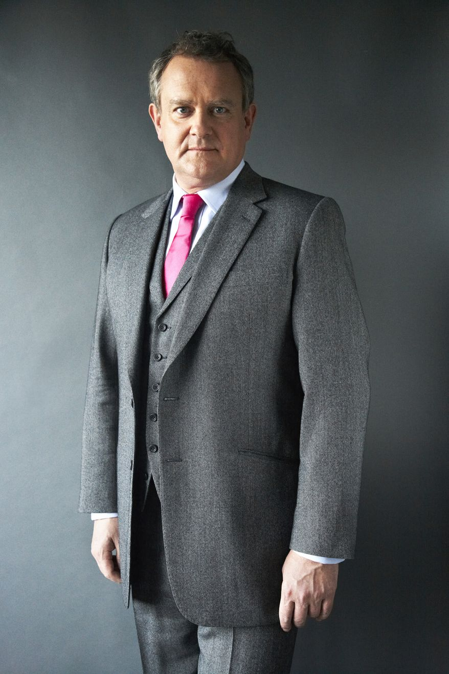 "British actor Hugh Bonneville, who portrays the patriarchal Lord Grantham in the popular PBS series ""Downton Abbey,"" is pictured in New York on Wednesday, Dec. 12, 2012. (Dan Hallman/Invision/AP)"
