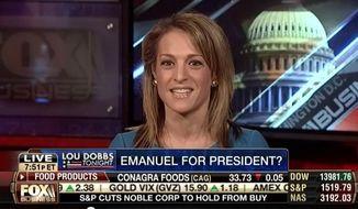 "Emily Miller on Fox Business's ""Lou Dobbs Tonight."" Feb. 15, 2013"