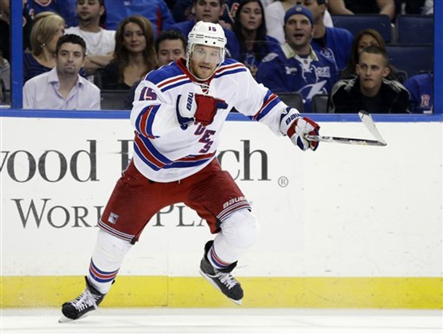 """Ex-Capitals forward Jeff Halpern on his time with the Rangers: """"I've been real happy. It's a great team, great organization, great coaching staff. It's been a lot of fun. I think just playing in the NHL is a blast, but there's a few organizations that I think are always special places to play and this is one of them, for sure. It's been a lot of fun so far."""""""