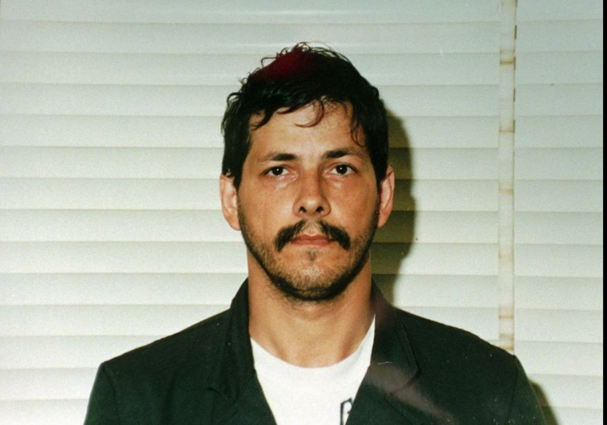 Pedophile killer Marc Dutroux is pictured in 1996. (AP Photo/Belgian Police)