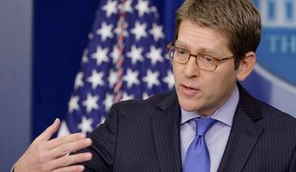 associated press White House press secretary Jay Carney circles around reporters' complaints about being kept at bay when President Obama was in Florida.
