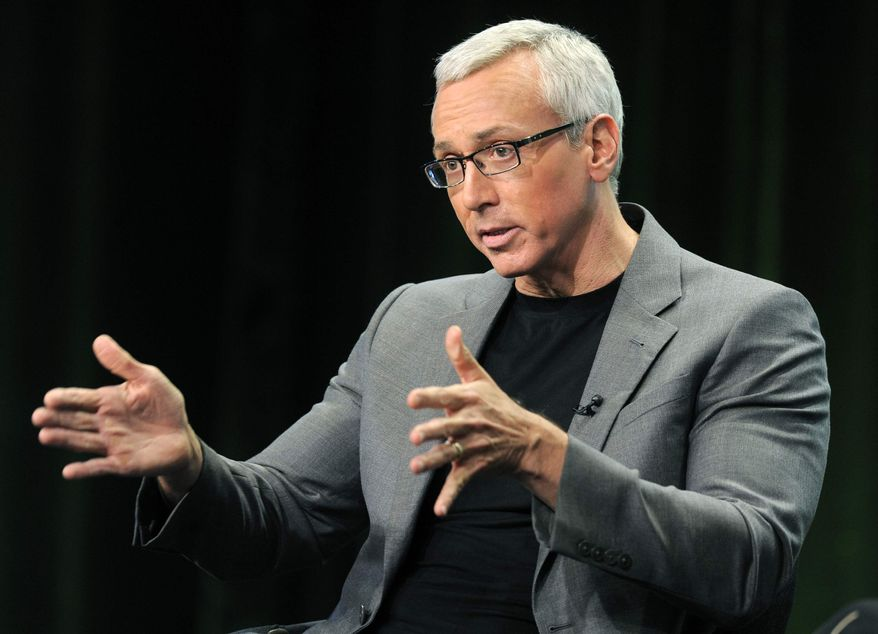 """This Aug. 4, 2011, file photo shows Dr. Drew Pinsky, host of the CW television series """"Dr. Drew's Lifechangers,"""" during a panel discussion on the show at the CW Showtime summer press tour in Beverly Hills, Calif. (AP Photo/Chris Pizzello, file)"""
