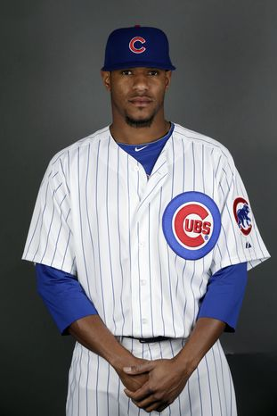This is a 2013 photo of Edwin Jackson of the Chicago Cubs baseball team. This image reflects the Cubs active roster as of Monday, Feb. 18, 2013. (AP Photo/Morry Gash)