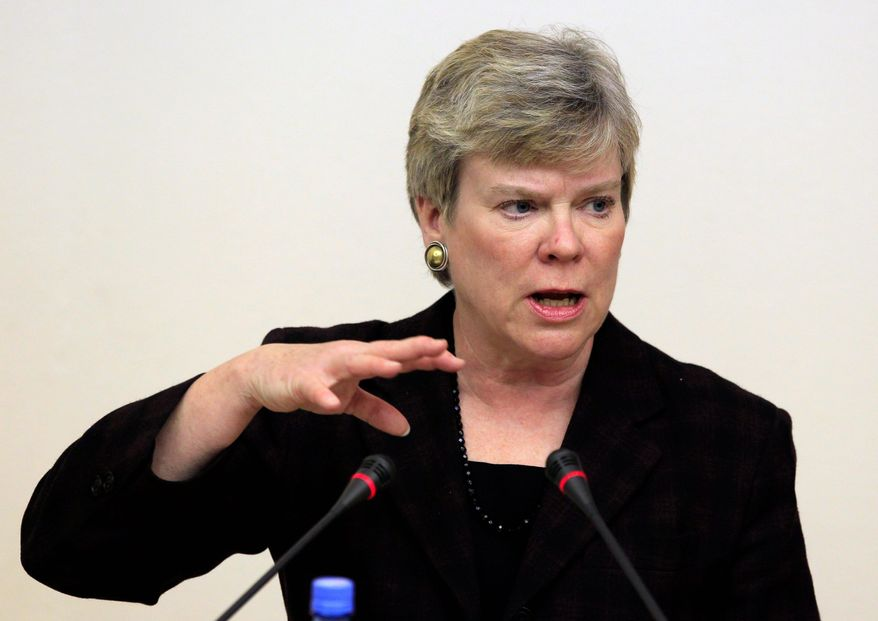 Rose Gottemoeller, acting undersecretary of state for arms control and international security, was in Moscow last week for talks that included discussion of proposed new arms reductions. (ASSOCIATED PRESS)