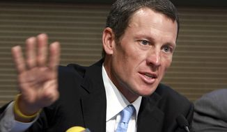 **FILE** In this May 5, 2009 file photo, Lance Armstrong speaks during a press conference following a meeting with Italian Foreign Minister Franco Frattini, in Rome. Armstrong is facing a Wednesday, Feb. 20, 2013 deadline to decide whether he will meet with U.S. Anti-Doping Agency officials and talk with them under oath about what he knows about performance-enhancing drug use in cycling. The agency has said Armstrong's cooperation in its cleanup effort is the only path open to Armstrong if his lifetime ban from sports it to be reduced. (AP Photo/Sandro Pace, File)