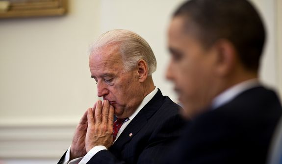Vice President Joseph R. Biden and President Obama. (courtesy: White House)