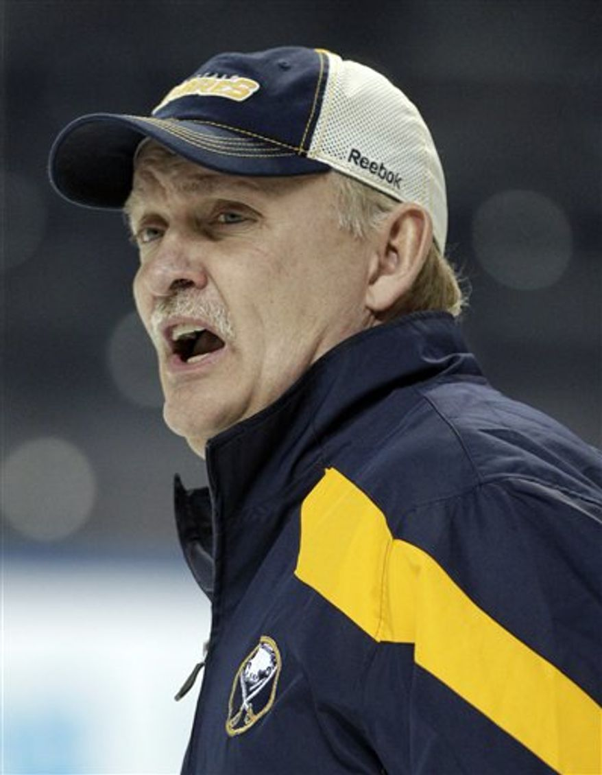 Lindy Ruff was fired as Buffalo Sabres coach on Wednesday after 15-plus seasons and eight playoff appearances. (Associated Press)