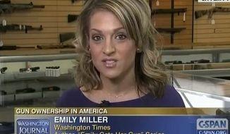 Emily Miller on C-SPAN. Feb. 21, 2013