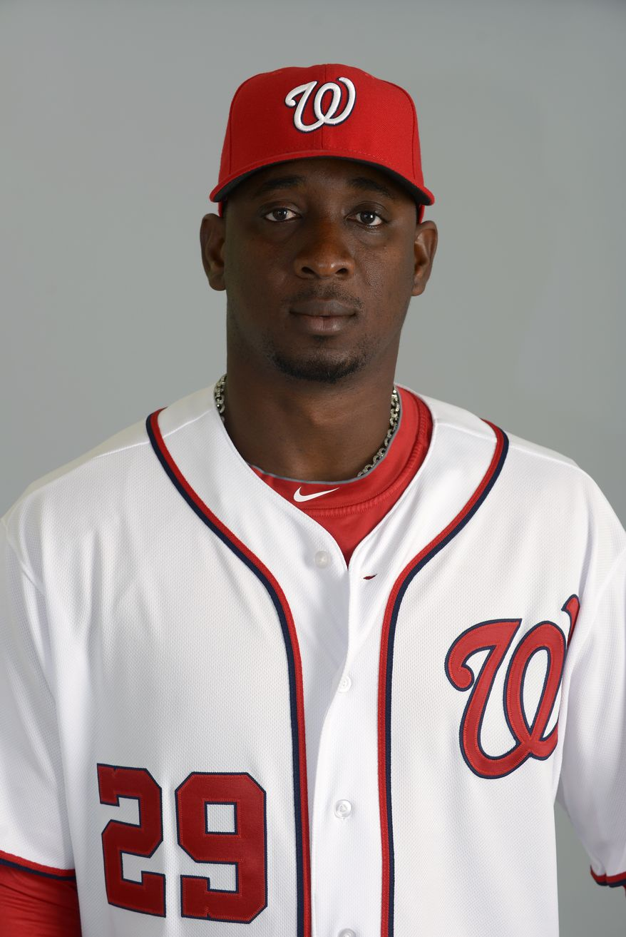 This is a 2013 photo of Rafael Soriano of the Washington Nationals baseball team. This image reflects the Nationals active roster as of Feb. 20, 2013 when this image was taken.(AP Photo/Phelan M. Ebenhack)