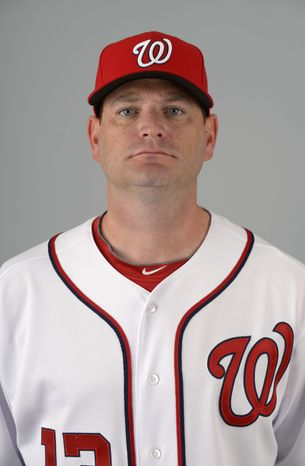 This is a 2013 photo of Will Ohman of the Washington Nationals baseball team. This image reflects the Nationals active roster as of Feb. 20, 2013 when this image was taken.(AP Photo/Phelan M. Ebenhack)