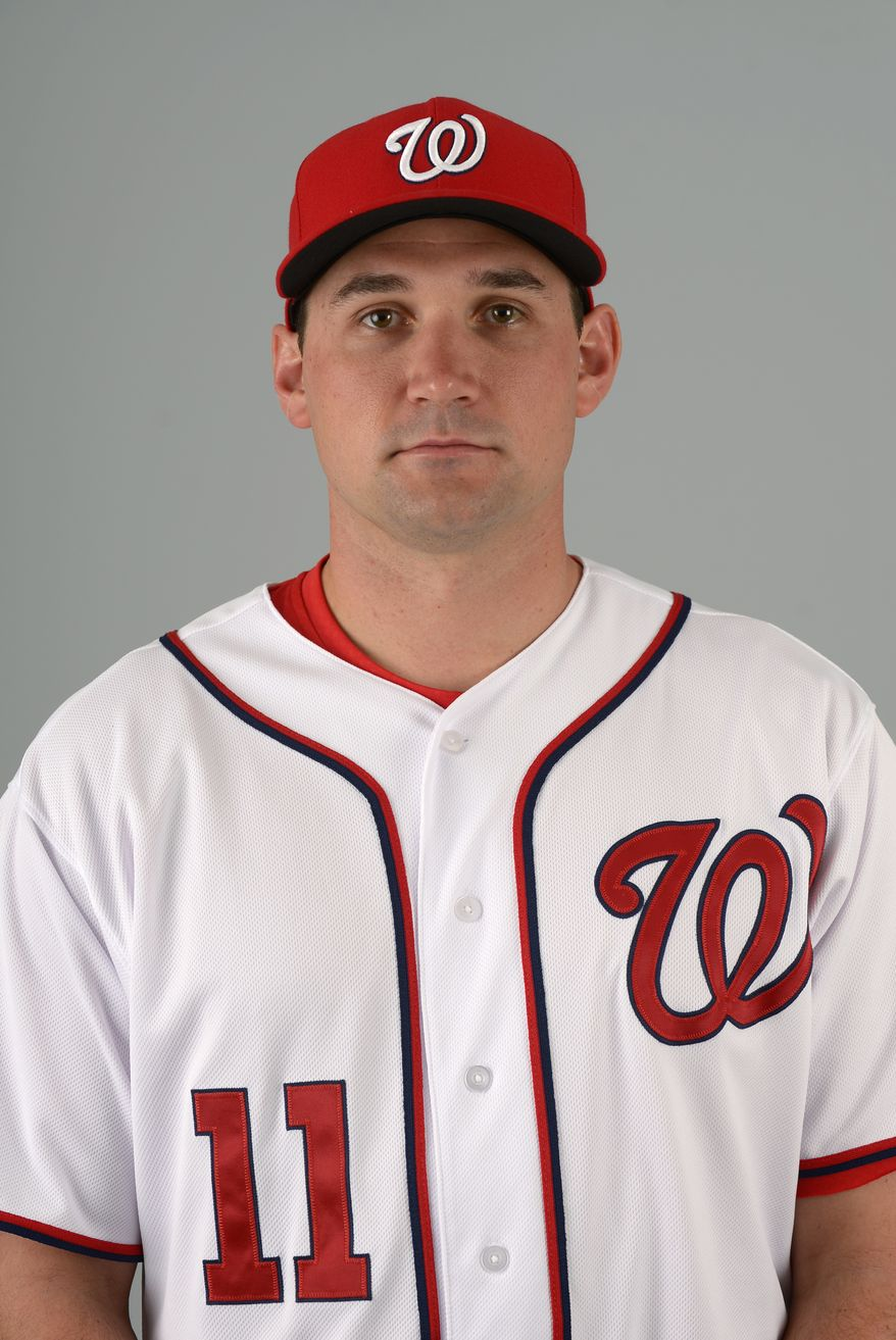 This is a 2013 photo of Ryan Zimmerman of the Washington Nationals baseball team. This image reflects the Nationals active roster as of Feb. 20, 2013 when this image was taken.(AP Photo/Phelan M. Ebenhack)