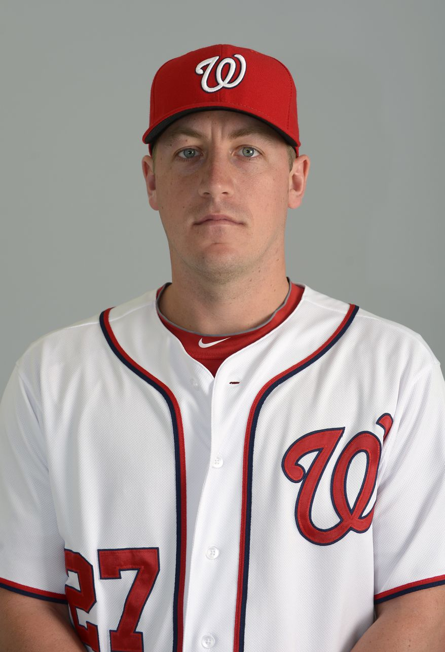 This is a 2013 photo of Jordan Zimmermann of the Washington Nationals baseball team. This image reflects the Nationals active roster as of Feb. 20, 2013 when this image was taken.(AP Photo/Phelan M. Ebenhack)
