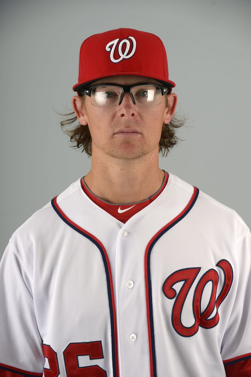 This is a 2013 photo of Tyler Clippard of the Washington Nationals baseball team. This image reflects the Nationals active roster as of Feb. 20, 2013 when this image was taken.(AP Photo/Phelan M. Ebenhack)