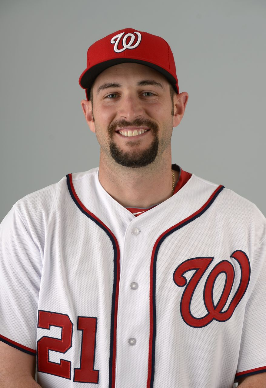 This is a 2013 photo of Bill Bray of the Washington Nationals baseball team. This image reflects the Nationals active roster as of Feb. 20, 2013 when this image was taken.(AP Photo/Phelan M. Ebenhack)