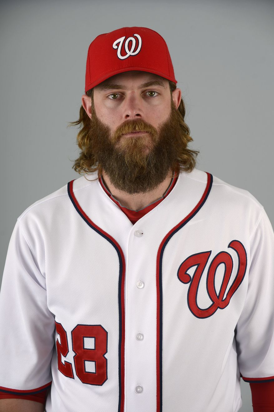 This is a 2013 photo of Jayson Werth of the Washington Nationals baseball team. This image reflects the Nationals active roster as of Feb. 20, 2013 when this image was taken.(AP Photo/Phelan M. Ebenhack)