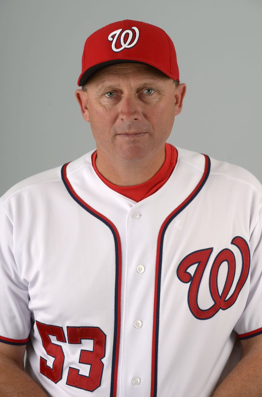 This is a 2013 photo of Randy Knorr of the Washington Nationals baseball team. This image reflects the Nationals active roster as of Feb. 20, 2013 when this image was taken.(AP Photo/Phelan M. Ebenhack)